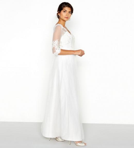187ade42cf Chi Chi Menyasszonyi ruha hosszú ujjú - Menyaklub