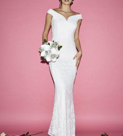 371e831101 Menyasszonyi ruha- fehér csipke 36-os - Menyaklub esküvő
