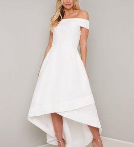 High-low menyasszonyi ruha